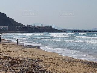 自然,海,空,屋外,ビーチ,砂浜,波,水面,日中