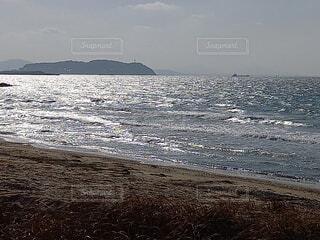 自然,風景,海,空,砂浜,波,水面,海岸,景色,陽射し,渚,日中