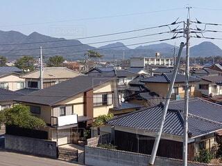 風景,空,建物,街並み,屋外,青空,窓,景色,家,電信柱