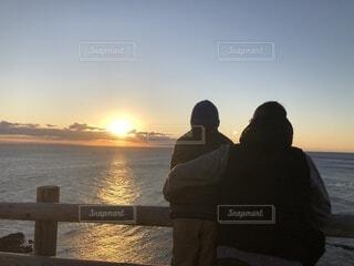 風景,海,朝日,正月,お正月,日の出,新年,初日の出,岬