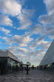 風景,空,建物,夏,屋外,雲,晴れ,青空,青,都会,羽田,日中,羽田イノベーションシティ
