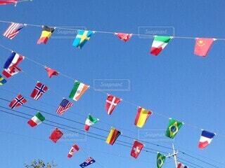 空,国旗,旗,運動会,景観