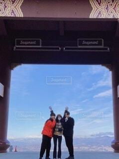 家族,風景,空,雲,山,人,旅行,冒険
