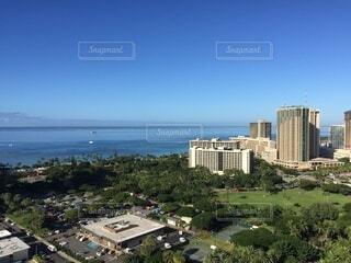 空,屋外,ビーチ,海岸,都会,高層ビル,ダウンタウン,眺め