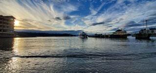 風景,海,空,屋外,雲,船,水面,沼津