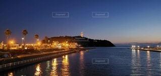 風景,夜景,江ノ島