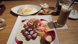 パンケーキ,デザート,おいしい,イチゴ