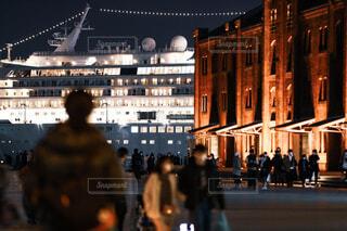 大型客船の写真・画像素材[4077921]