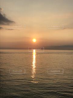 海,空,朝日,日の出