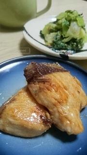 皿の上の食べ物のクローズアップの写真・画像素材[4359043]