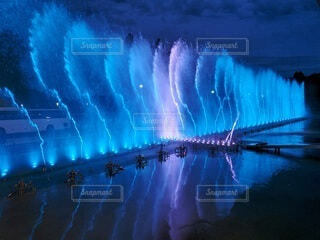 青い水の群れの写真・画像素材[4120932]