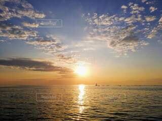 自然,海,空,屋外,湖,太陽,ビーチ,雲,夕暮れ,水面,日の出