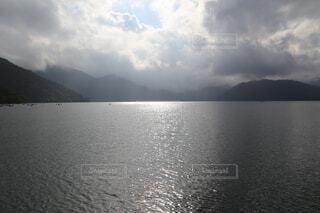 自然,屋外,湖,雲,水面,山,旅行