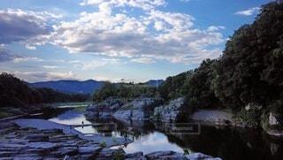 自然,風景,空,雲,川,水面,埼玉,長瀞,ライン下り
