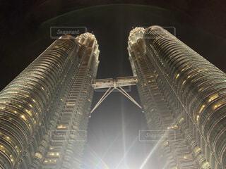 建物,夜景,タワー,ライトアップ,高層ビル,クアラルンプール