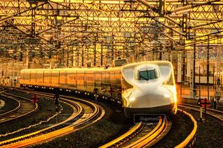 夕日,夕景,鉄道,新幹線,東海道新幹線,浜松,N700,撮り鉄
