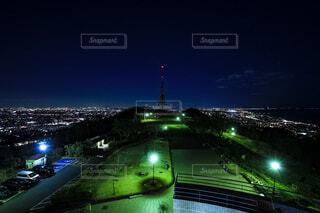 湘南平の夜景の写真・画像素材[4068679]