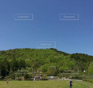 自然豊かな公園の写真・画像素材[4077076]