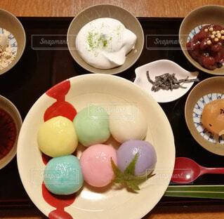 カフェ,京都,カラフル,デザート,団子,古民家,和風,お餅