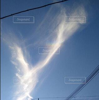 空,屋外,雲,虹,青い空,幸せ,明るい,ハッピー,珍しい,彩雲,幸運