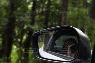 屋外,車,反射,樹木,サイドミラー,ミラー,一眼レフ,車両,自動車部品,自動車用サイドミラー,自動車ミラー