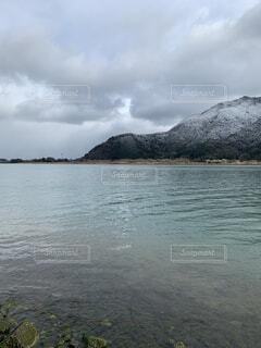 自然,風景,空,屋外,湖,雲,水面,海岸,山,くもり,岬,日中