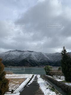 自然,風景,空,雪,屋外,雲,山,樹木,草木,日中