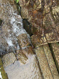 自然,屋外,水面,石