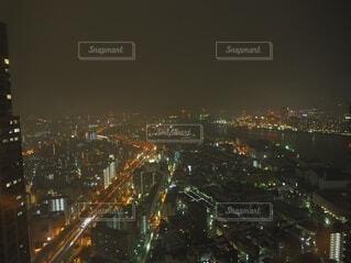 空,建物,夜,屋外,都市,タワー,都会,高層ビル,明るい