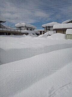空,冬,雪,屋外,家