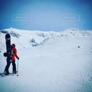 自然,冬,雪,山,運動,スノーボード,ウィンタースポーツ,バックカントリー,旭岳,スノーボード女子