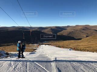 自然,冬,雪,海外,山,外国,運動,スノーボード,ウィンタースポーツ,南アフリカ,ボード,スノーボード女子