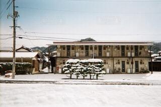 雪の積もった木の写真・画像素材[4164736]