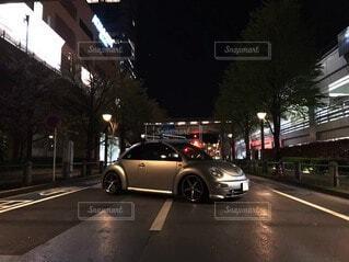 夜,車,ビートル,フォルクスワーゲン,フォルクスワーゲンビートル