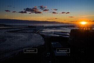 海,太陽,朝日,ビーチ,正月,お正月,日の出,新年,初日の出