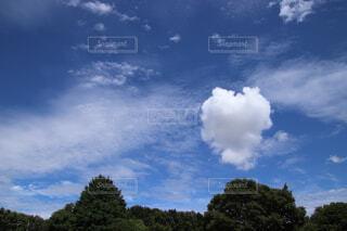ハートのような雲の写真・画像素材[4613210]