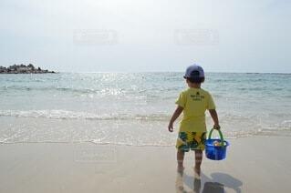 自然,海,空,夏,ビーチ,海岸,幼児,夏休み,少年