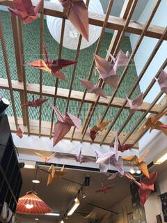 屋内,紙,鶴,折り鶴