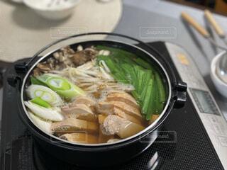 冬の鍋料理の写真・画像素材[4067873]