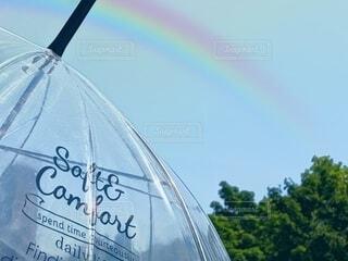 傘と虹の写真・画像素材[4566935]