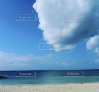 自然,海,空,雲,青,砂浜,海岸,沖縄
