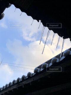 空,屋外,つらら,氷柱