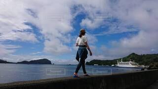 自然,風景,空,ビーチ,水面,海岸,人,小笠原