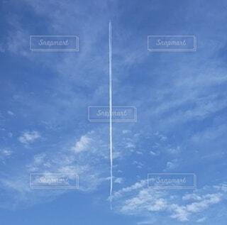 雲,青空,青,飛行機,青い空,飛行機雲,お出かけ,高い,お空
