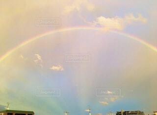 自然,雲,虹,アーチ,雨上がり