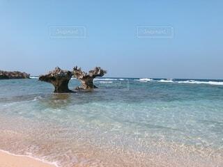 自然,風景,海,屋外,ビーチ,水面,海岸,沖縄,古宇利島,ハートロック