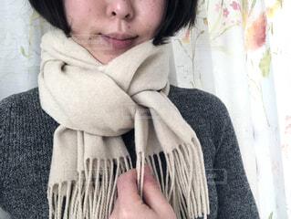 ファッション,冬,屋内,マフラー,人,セーター