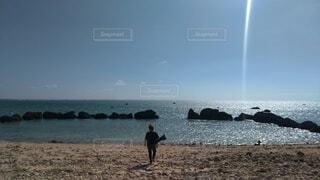 自然,海,空,太陽,ビーチ,砂浜,水面,海岸,沖縄,光,石垣島,白保海岸