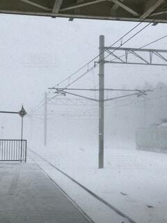 自然,屋外,駅,北海道,寒い,ホーム,吹雪
