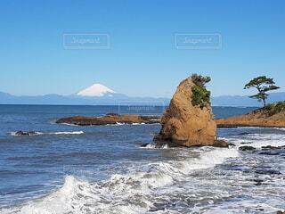 自然,海,空,富士山,屋外,ビーチ,島,海岸,山,岩,崖,岬,海洋地形